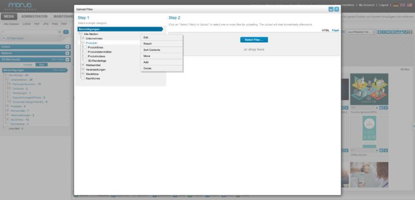 Upload files   Category Dialog