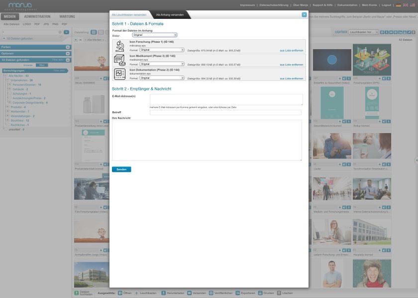 Dateien als Anhang versenden   Schritte